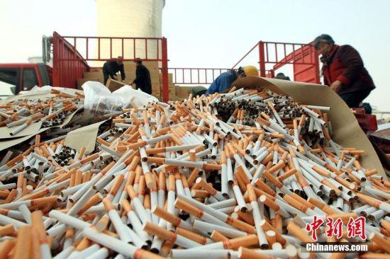 河南焚烧假烟发电8万余条香烟发电5万度