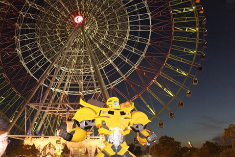 夜游摩天轮 与擎天柱大黄蜂亲密接触