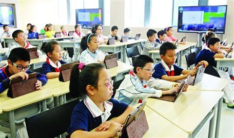 """""""未来教室""""主要靠多媒体科技教学"""