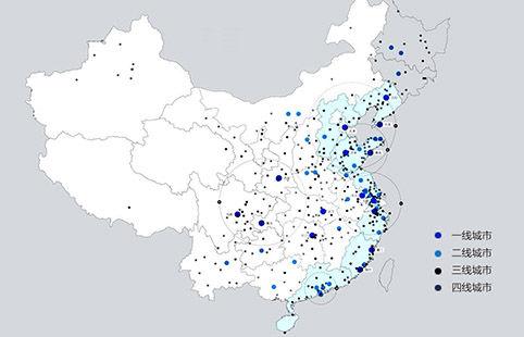 中国四线以上城市