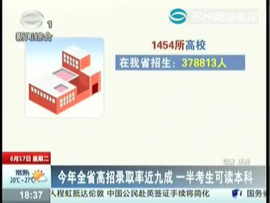 视频:今年全省高招录取率近九成